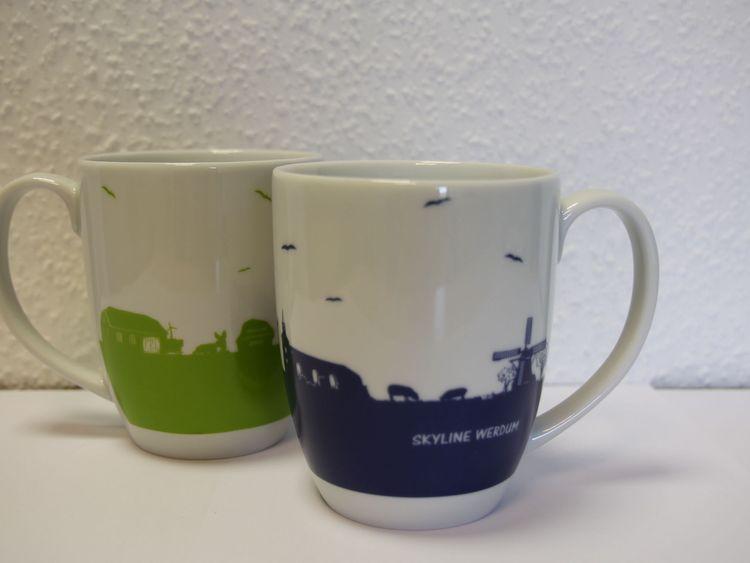 Becher mit der Skyline von Werdum